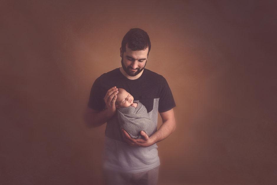 portait couleur papa et bébé sur lille