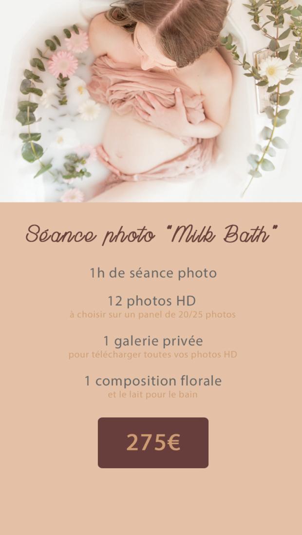 seance photo bain de lait femme enceinte lille nord tourcoing