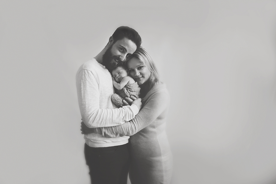 photographe bébé sur lille noir et blanc bébé