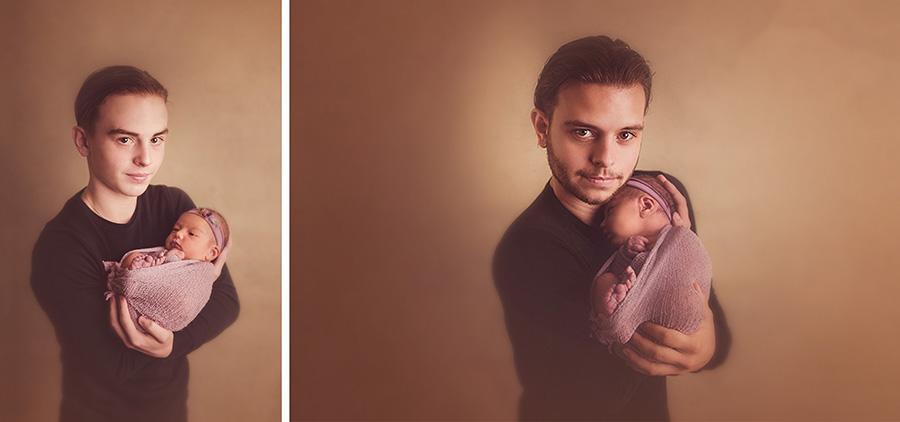portrait naissance avec grand frère en studio sur tourcoing photographe nord one moment photographie 1