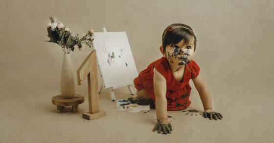 shooting peinture photographe bébé 1 an tourcoing lille