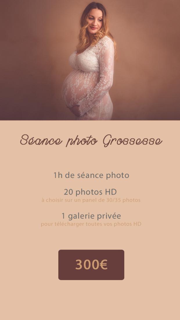shooting photo studio grossesse femme enceinte nord